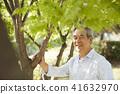 生活,老人,男人,公園 41632970