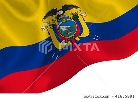 Ecuador National Flag National Flags Stock Illustration