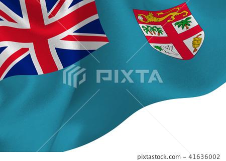 Fiji Flag Flag Background Stock Illustration 41636002