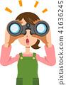 쌍안경, 여성, 여자 41636245