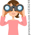 A young woman looking into binoculars 41636249