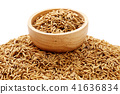 Brown paddy rice closed up 41636834
