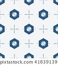 Symmetrical background with center bolt 41639139