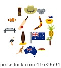 Australia travel icons set in flat style 41639694