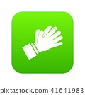 Clapping applauding hands icon digital green 41641983