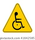 handicapped, sign, triangle 41642585