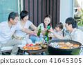 ครอบครัวสามรุ่น, อาหาร, บาร์บีคิว, ขนมปังปิ้ง 41645305