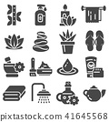 Spa massage therapy cosmetics icons. 41645568
