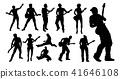 Silhouette Guitarist Musicians Set 41646108