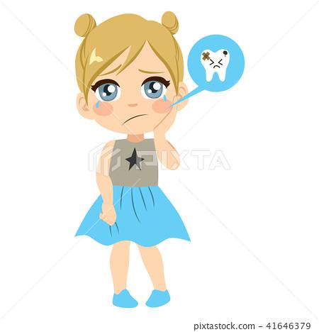 Hurt Teeth Girl Caries 41646379