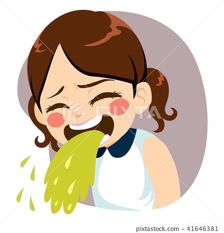 Girl Throwing Up Puke 41646381