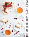 New York cheese cake with berries. 41647292