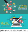 Concept of telephone and digital marketing 41647673