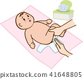 婴儿尿布更换 41648805