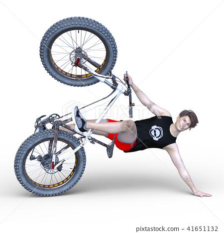 A man riding a fat bike 41651132
