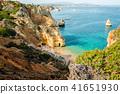 Camilo Beach in Lagos, Algarve, Portugal. 41651930