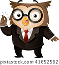 Business Owl Snap Fingers Illustration 41652592
