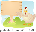 Chicken Mascot Bird Farming Board Illustration 41652595