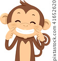 Monkey Smile Illustration 41652620