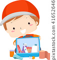 Kid Boy First Aid Kit Rescue Illustration 41652646