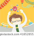 Kid Boy Scientist Atom Float Illustration 41652655