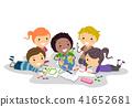 孩子 小孩 蜡笔 41652681