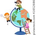 孩子 小孩 地球仪 41652686