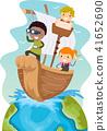 stickman, kids, ship 41652690