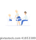 Family eating dinner together at kitchen table, family lifestyle concept vector Illustration on a 41653389