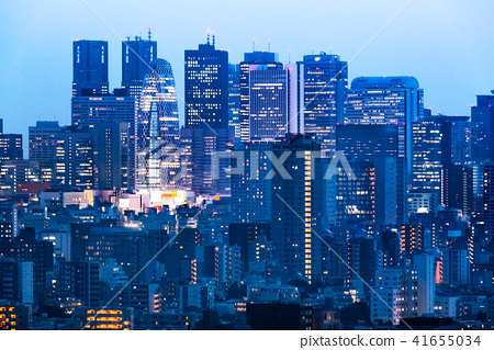 Night view of Tokyo urban area 41655034