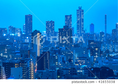 东京市区夜视图 41655038