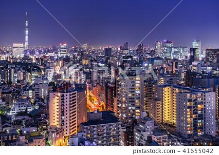 도쿄 도심의 야경 41655042