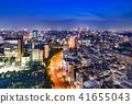 Night view of Tokyo urban area 41655043