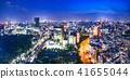 Night view of Tokyo urban area 41655044