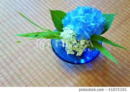 繡球花的日本插花 41655191