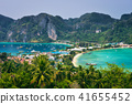 Tonsai Village and the mountains of Koh Phi Phi Island in Thailand 41655452