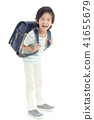 Portrait of Asian schoolboy with backpack   41655679