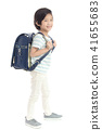 Portrait of Asian schoolboy with backpack   41655683