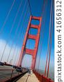San Francisco Golden Gate bridge on foggy day 41656312