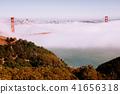 San Francisco Golden Gate bridge on foggy day 41656318