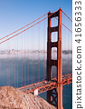 San Francisco Golden Gate bridge on foggy day 41656333