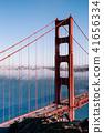 San Francisco Golden Gate bridge on foggy day 41656334