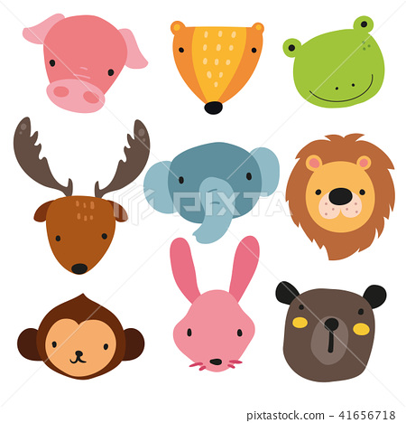 animals head character design 41656718