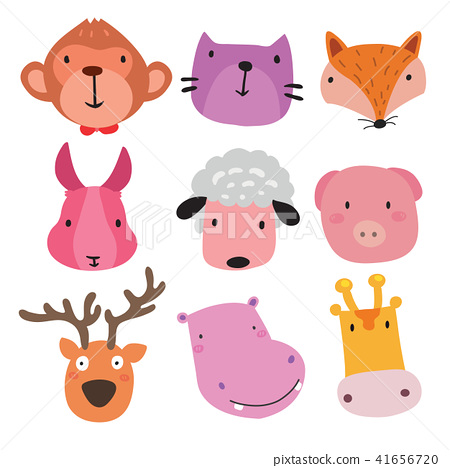 animals head character design 41656720