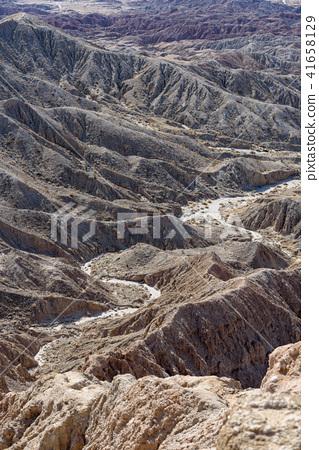 Anza Borrego國家公園Fontzpoint看法在加利福尼亞,美國 41658129