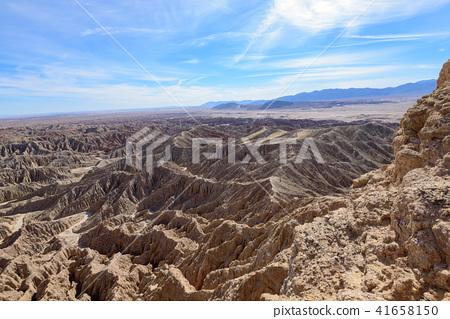 Anza Borrego國家公園Fontzpoint看法在加利福尼亞,美國 41658150