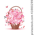 basket blossom flower 41660299