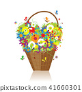 basket design flower 41660301