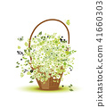 basket design flower 41660303