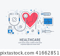 Healthcare thin line illustration 41662851